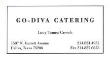 Go-Diva Catering by Lucy Tamez Creech